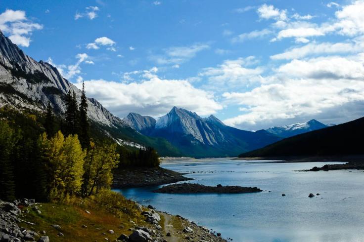 medicine lake, the rockies