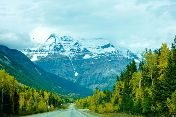 mountains as taken through the windscreen