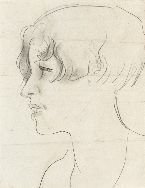 A sketch of Brenda Dean Paul by Augustus John