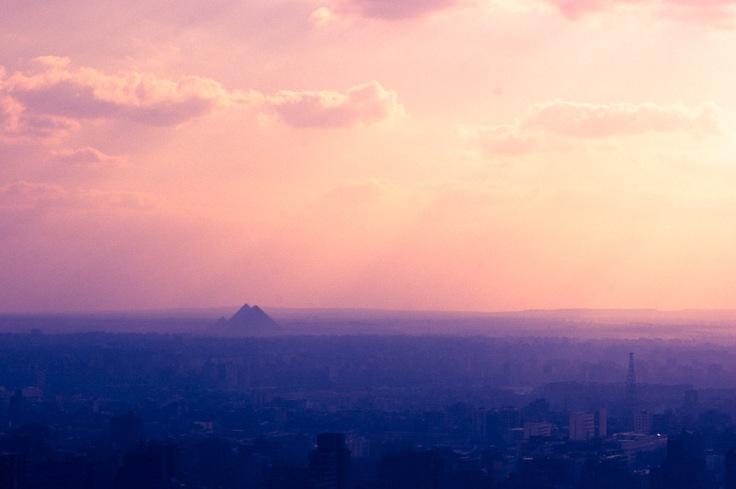 cairo pyramids giza egypt sunset photo