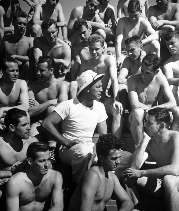 US Navy cadets during training, Corpus Christi, Texas, 1942.