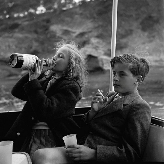 Princess Yvonne and Prince Alexander of Sayn-Wittgenstein-Sayn in 1955