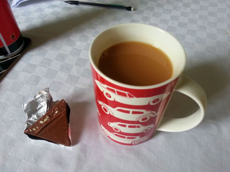tea and toblerone