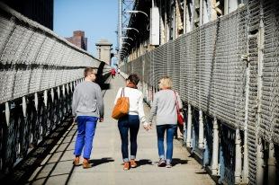 Crossing the Manhattan Bridge