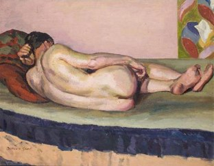 male nude by duncan grant