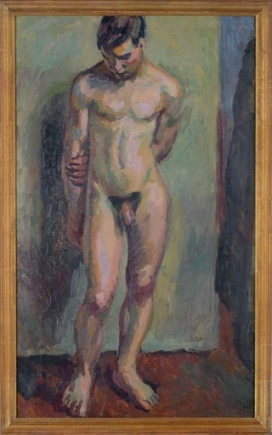 standing male nude by duncan grant